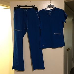 Set of Healing Hands ROYAL BLUE Scrubs